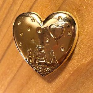 Earwarmer Brooch/Pin - Heart w/ Design